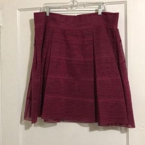 NWT Torrid Fuschia party mid length skirt
